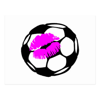 Soccer Ball (Kiss) Postcard