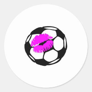 Soccer Ball (Kiss) Round Sticker