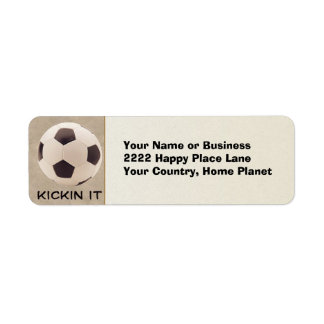 Soccer Ball Label