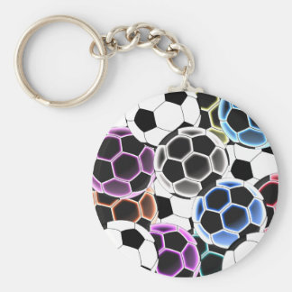 Soccer Ball Large Round Keychain