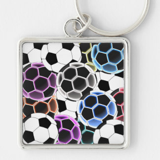 Soccer Ball Large Square Keychain