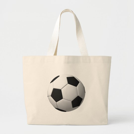 Soccer Ball: Large Tote Bag