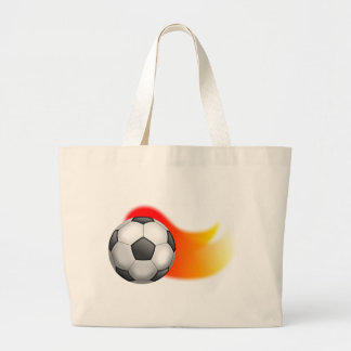 Soccer Ball Large Tote Bag