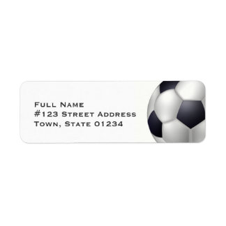 Soccer Ball Mailing Labels