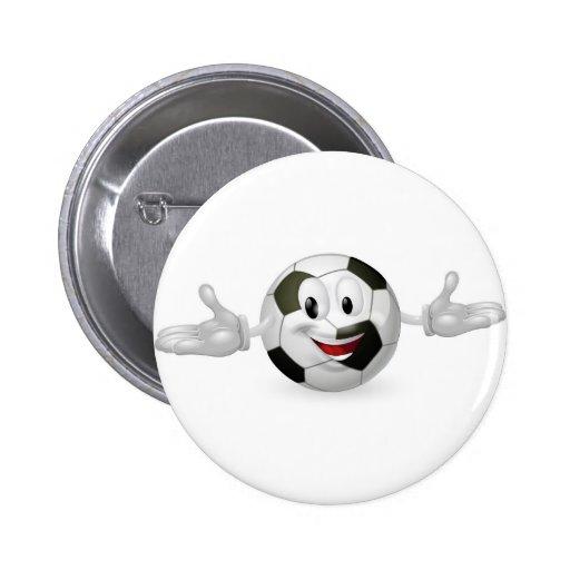 Soccer Ball Man Pinback Button