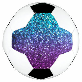 Soccer Ball Mosaic Sparkley Texture