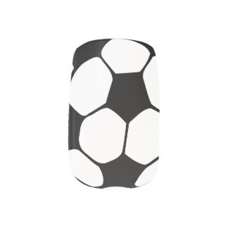 Soccer ball nails minx nail wraps