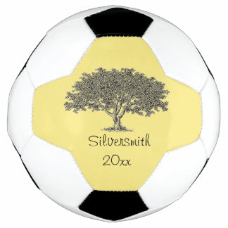 Soccer Ball - Name and Date with Family Tree
