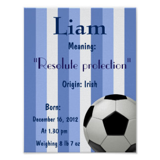 Soccer ball Name meaning Poster