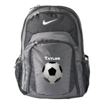 Soccer Ball Name Personalize Nike Backpack