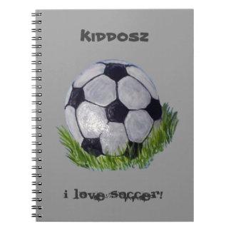 Soccer ball notebook