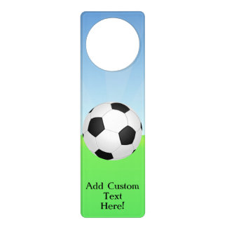 Soccer Ball on a Sunny Day Door Hangers