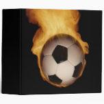 Soccer Ball On Fire Avery Binder
