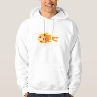 Soccer ball on fire hoodie