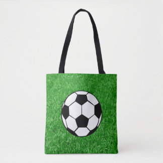Soccer Ball On Lawn Tote Bag
