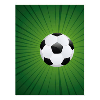 Soccer Ball on Rays Background2 Postcard