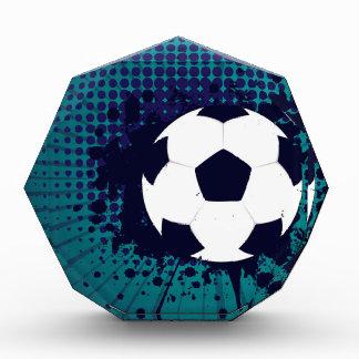 Soccer Ball on Rays Background 2 Acrylic Award