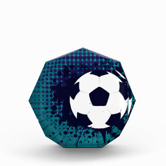 Soccer Ball on Rays Background 2 Award