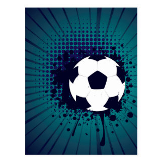 Soccer Ball on Rays Background 2 Postcard