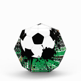 Soccer Ball on Rays Background 3 Award
