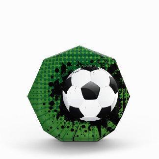 Soccer Ball on Rays Background Award
