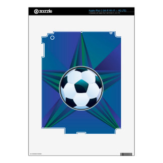 Soccer Ball on Rays Background iPad 3 Skins