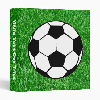 Soccer Ball On The Lawn 3 Ring Binders