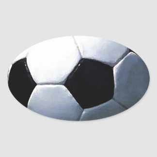 Soccer Ball Oval Sticker