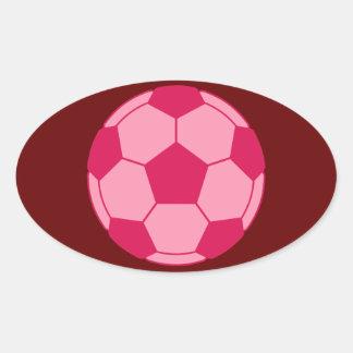 soccer ball (P) Oval Sticker