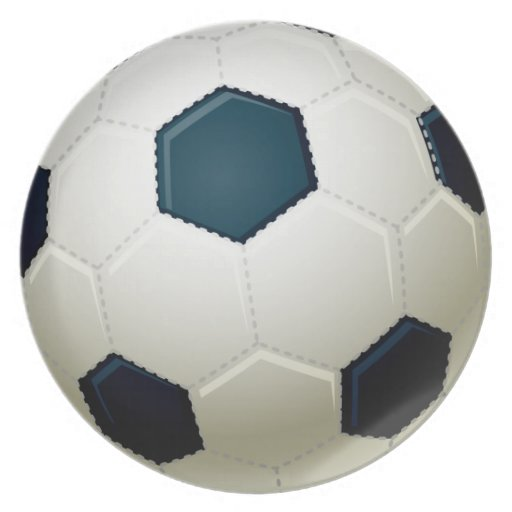 Soccer Ball Party Plate