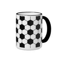 soccer ball pattern drink mug