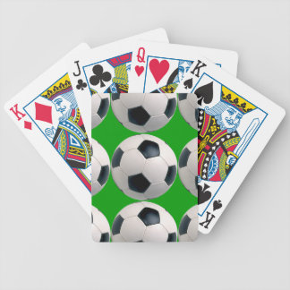 Soccer Ball Pattern Bicycle Playing Cards