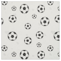Soccer Ball Pattern Black and White Fabric