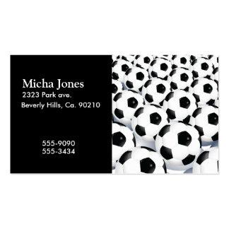 Soccer Ball Pattern Business Card