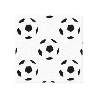 Soccer Ball Pattern Stretched Canvas Prints