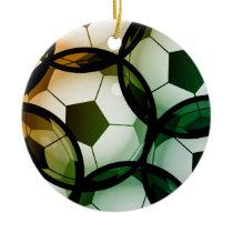 Soccer Ball Pattern Ceramic Ornament