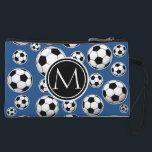 "Soccer Ball Pattern Classic Blue Wristlet<br><div class=""desc"">Cool soccer ball pattern. Art by Jos&#233; Ricardo.</div>"