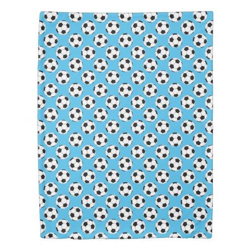 Soccer Ball Pattern Duvet Cover