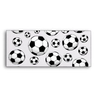 Soccer Ball Pattern Envelope