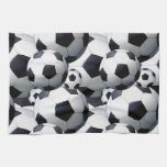 Soccer Ball Pattern Hand Towels