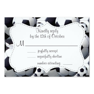 Soccer Ball Pattern Personalized Invite