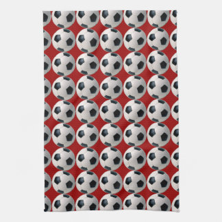 Soccer Ball Pattern Kitchen Hand Towel