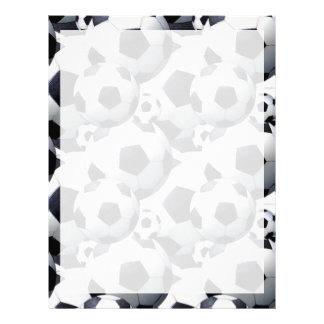 Soccer Ball Pattern Letterhead Design