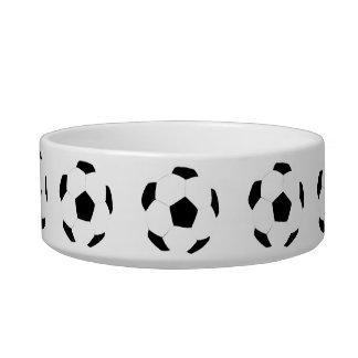 Soccer Ball Pattern Cat Food Bowls