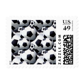 Soccer Ball Pattern Postage