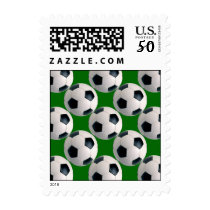 Soccer Ball Pattern Postage Stamps