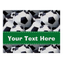 Soccer Ball Pattern Poster