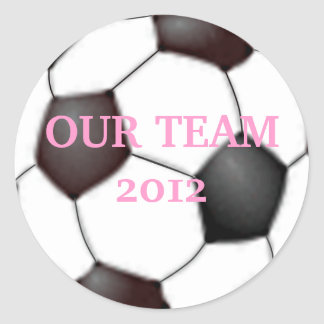 Soccer Ball Personalize It! Classic Round Sticker