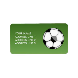 Soccer Ball Personalized Address Labels