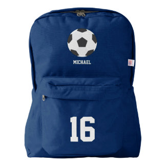 Soccer Ball Personalized American Apparel™ Backpack